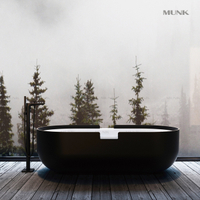 71 Inch Creative Solid Surface Freestanding Bathtub