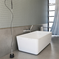 65 Inch Ultrathin Solid Surface Freestanding Bathtub