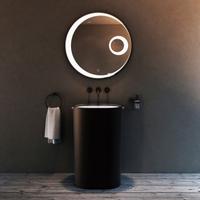 Oval Solid Surface Pedestal Basin