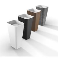 Freestanding Basin in White Minimalist Style