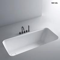 55 Inch Classic Rectangular Drop-in Bathtub
