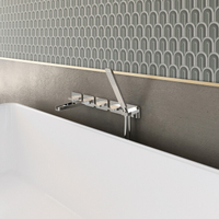 5 Hole Separated Wall-mount Bathtub Mixer