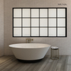 63 Inch New Arrival Modern Shaped Solid Surface Freestanding Bathtub