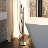 Modern Floorstanding Bathtub Shower Mixer