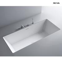 57 Inch Matte White Drop-in Bathtub