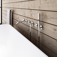 Wall-mount bathtub mixer for luxury bathroom