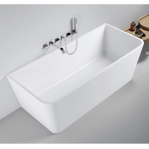60 Inch Back To Wall Rectangular Freestanding Bathtub