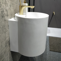 Fashionable Oval Wall-hung Basin