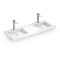 Matte White Double Wall-hung Basin