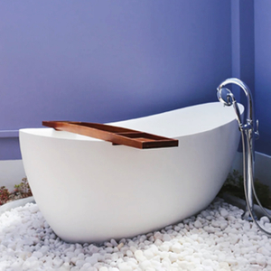 67 Inch Matte White Freestanding Bathtub