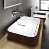 24 Inch Solid Surface Abovecounter Basin with Cover Plate