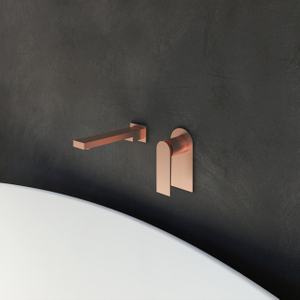 Wall-mount Bathtub Mixer in Brushed Rose Golden