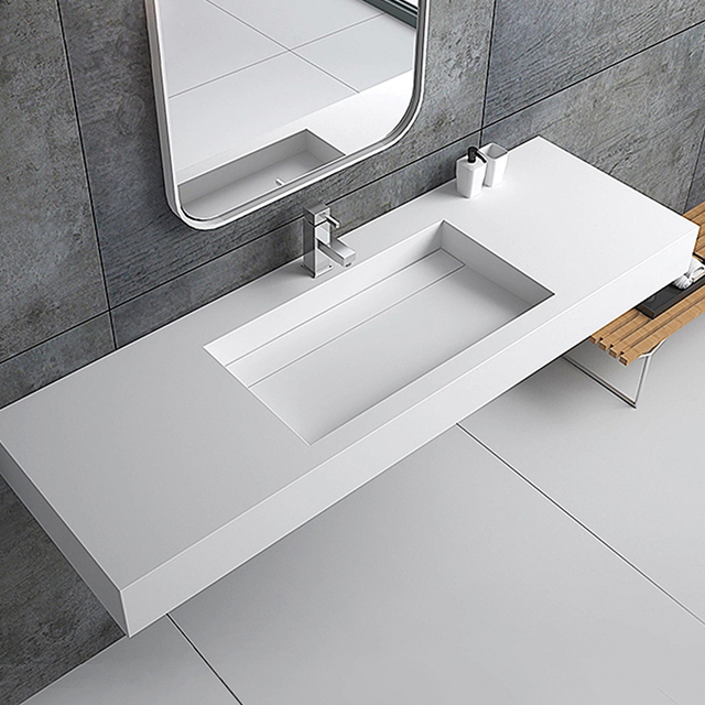 White Rectangle Wall-hung Basin