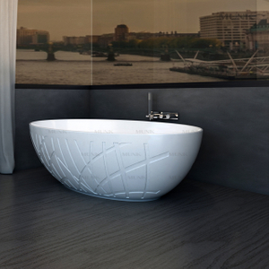 67 Inch Most Popular Solid Surface Freestanding Bathtub Italian Design